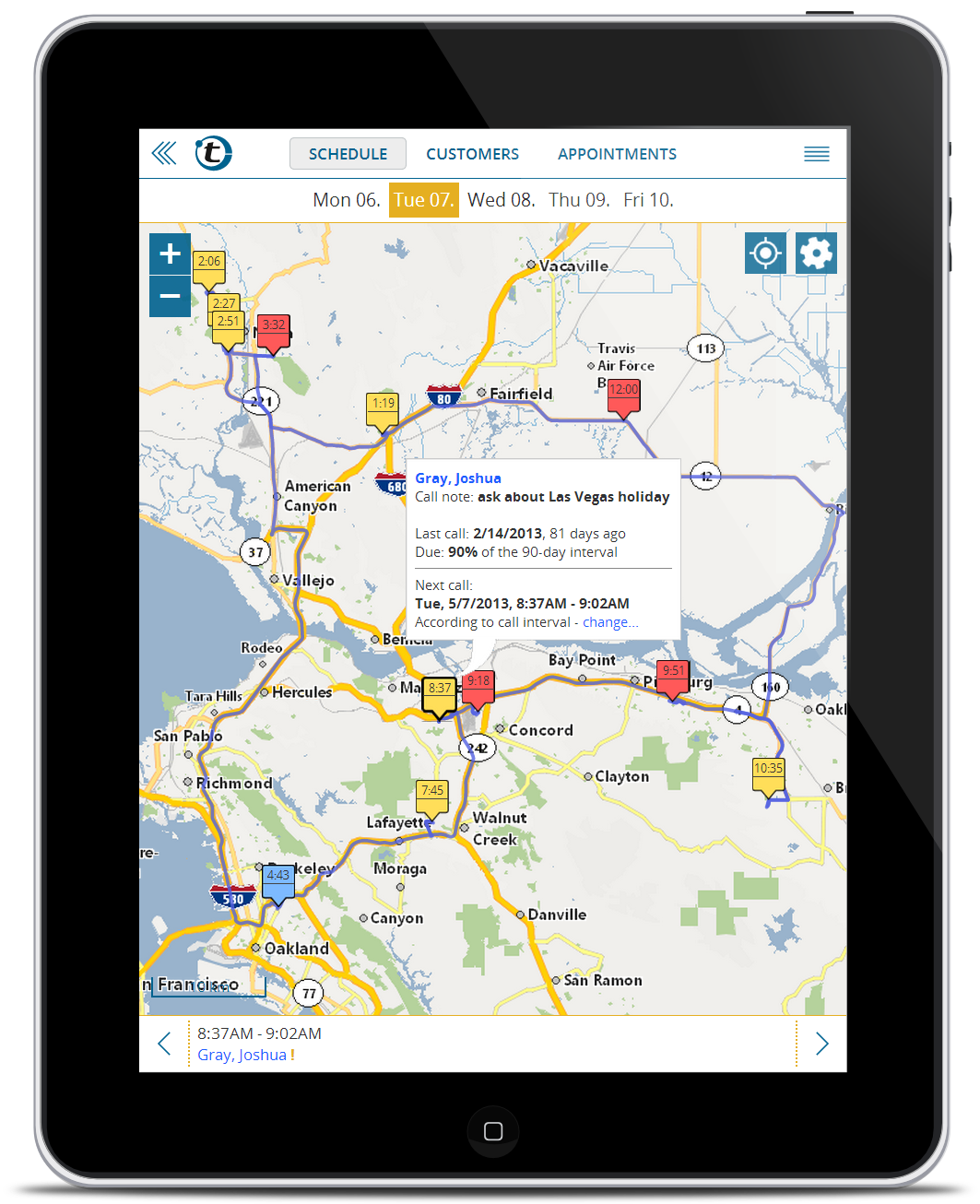 Route-planner on iPad