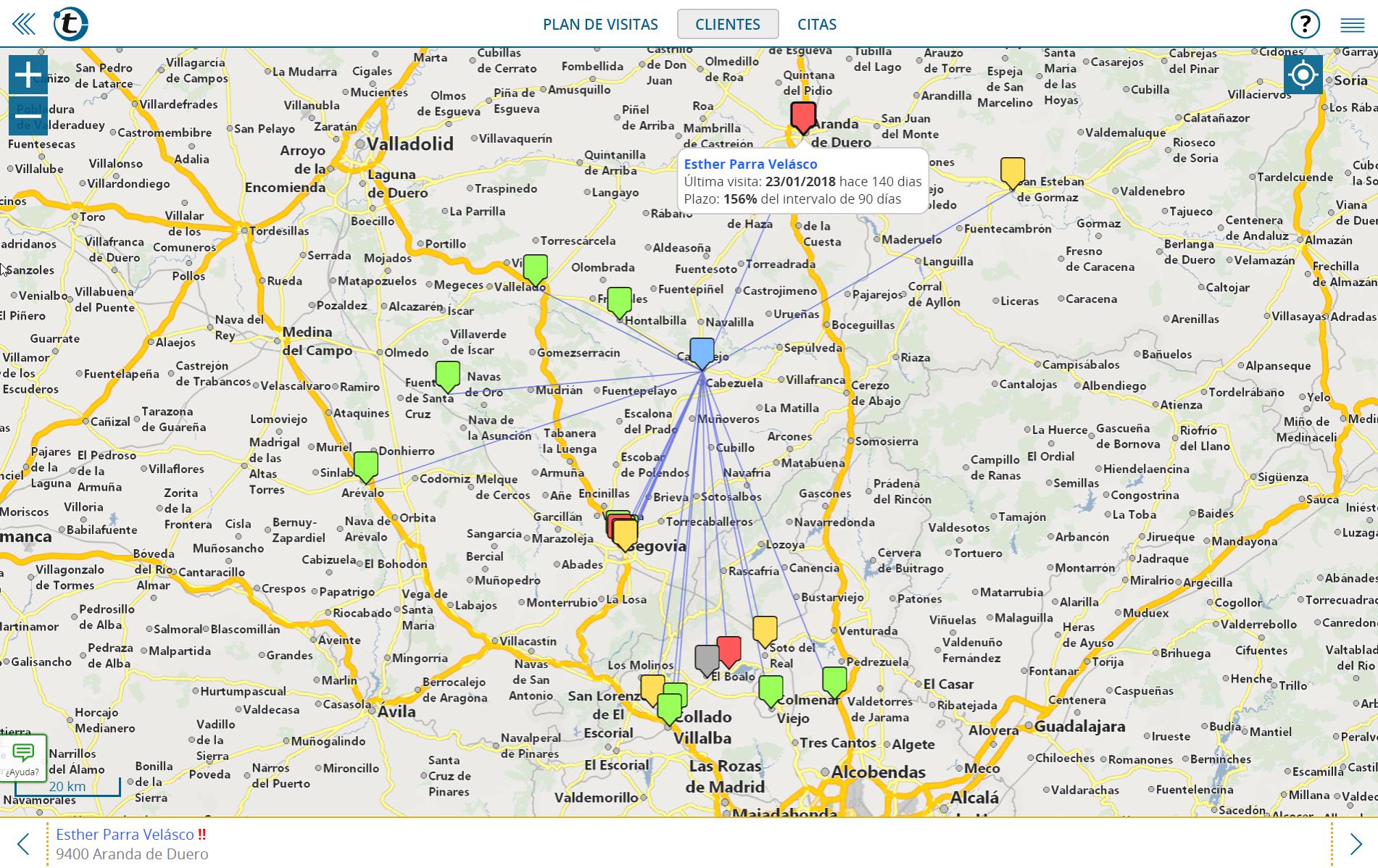 La alternativa a MapPoint: sus clientes de un vistazo sobre el mapa con portatour®