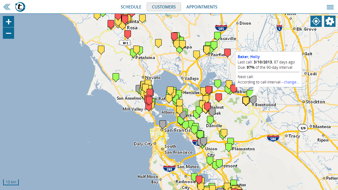 Mappoint alternative: show customers on a map with portatour®