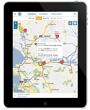 portatour route planner software on iPad