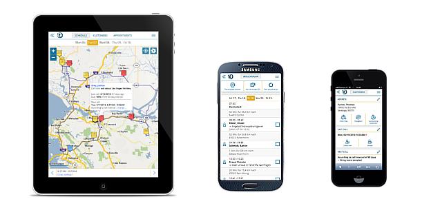 portatour route-planner for Microsoft Dynamics CRM 2015 mobile offline