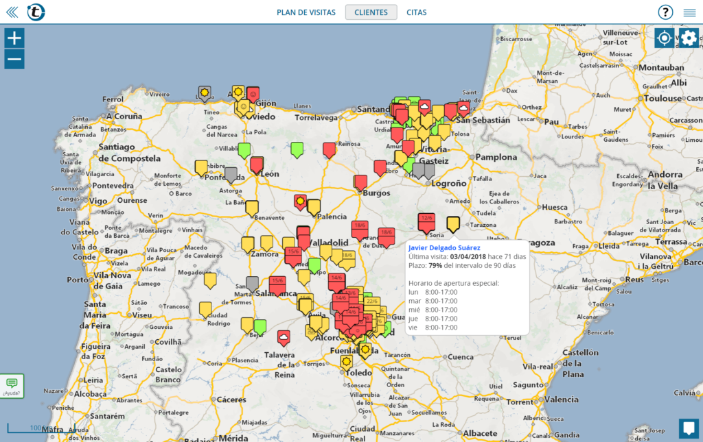 La alternativa a Streets & Trips: sus clientes de un vistazo sobre el mapa con portatour®