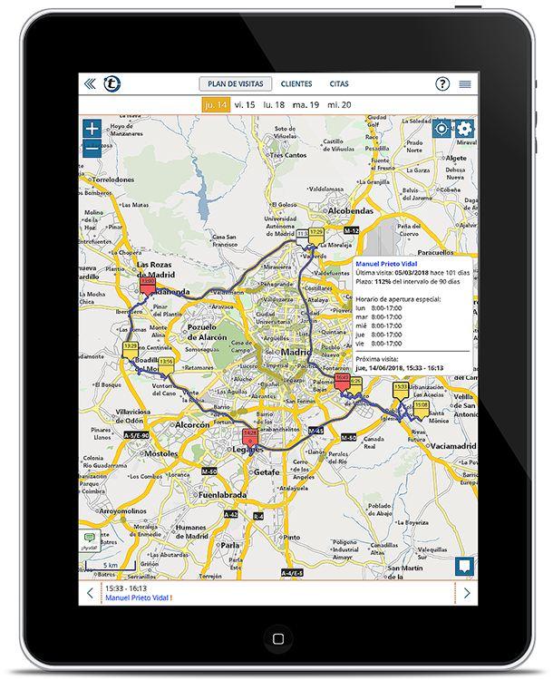 La alternativa a Streets & Trips: planificación de rutas con portatour® para el servicio de campo