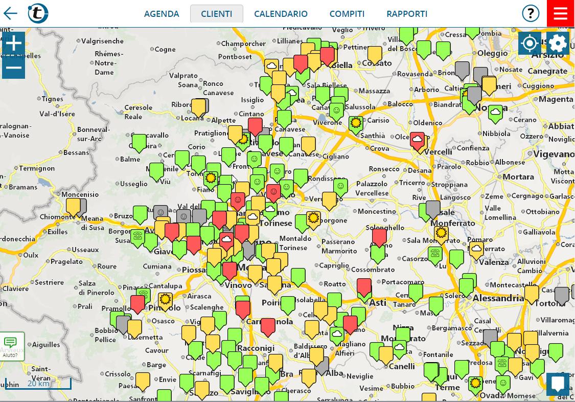 Visualizzare clienti sulla mappa con indirizzi provenienti da Excel o CRM