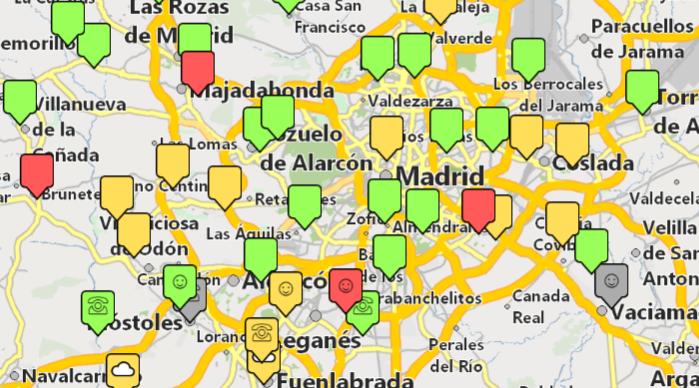 mostrar clientes en un mapa